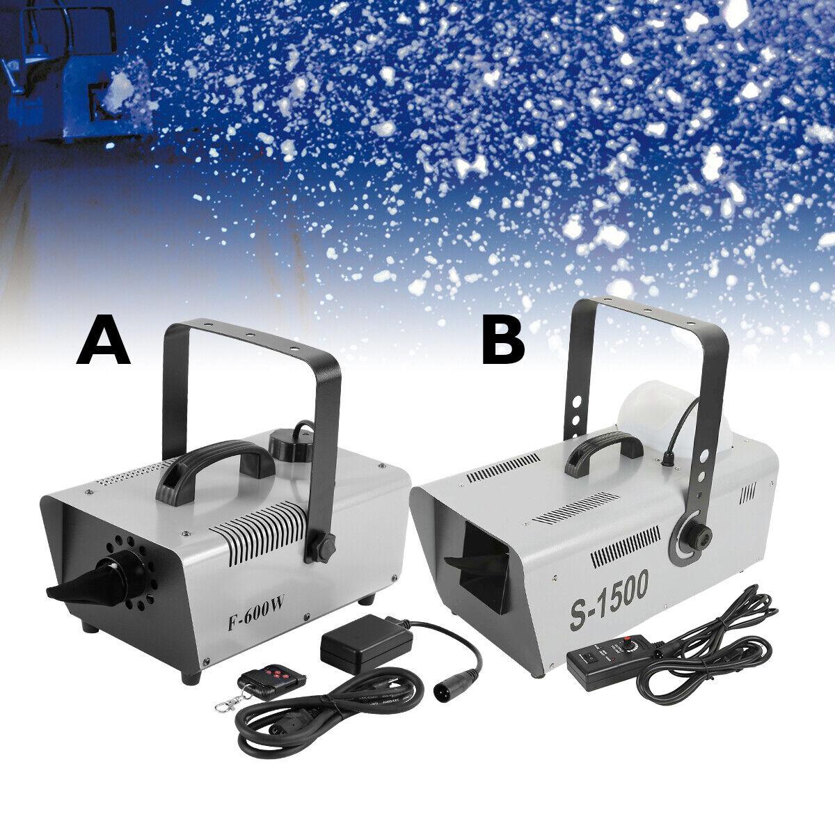 Portable 600W /1500W Snowflake Machine Snow Maker Spraying Show Stage Remote