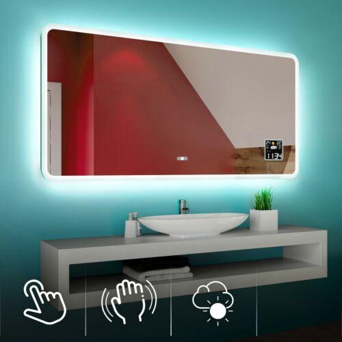 Espejo de Baño Con la Iluminación LED Estación Meteorológica S3 Interruptor L59