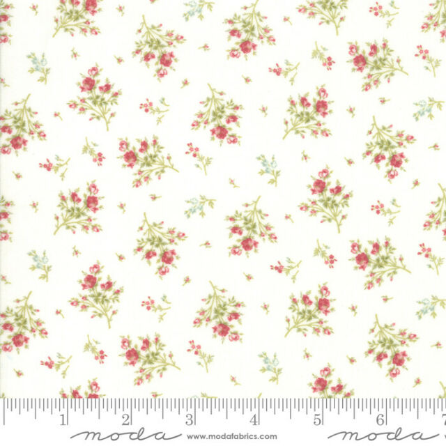 Quilt Rue 1800 Porcelain 44225 11 by 3 Sisters for Moda Fabrics Floral