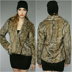 New Taille M Coat Bb Fur Faux Dakota Jacket AxFrq1AY