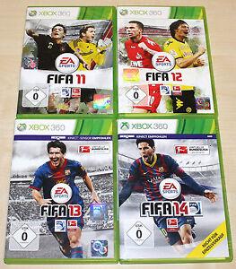 4-XBOX-360-SPIELE-SAMMLUNG-FIFA-11-12-13-14-FUSSBALL-SOCCER-FOOTBALL-15-16