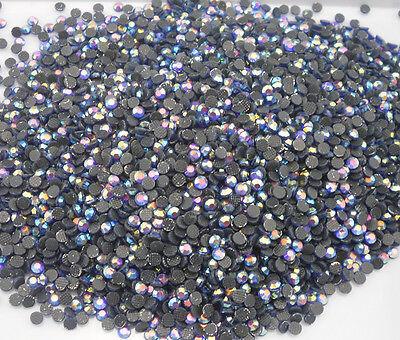 SS8 Hotfix Iron light blue AB glass lot face 2.4mm Flat Back Rhinestone 7200pcs