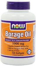 Borage Oil (Highest GLA Concentration) 120 Softgels Expires 06/2017