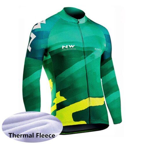 2019 Men winter thermal fleece cycling Jersey bike long sleeve shirt bicycle Top