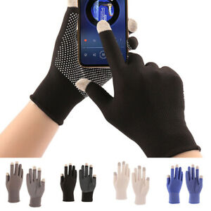 Sports-Driving-Sunscreen-Gloves-Anti-skid-Touch-Screen-Wrist-Gloves-Mittens-US
