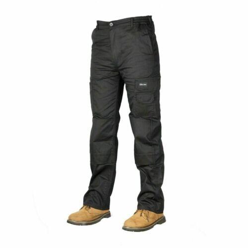 Homme Cargo Combat Pantalons de travail Pantalons Taille 30 To 48 Noir Travail Pantalon Cargo