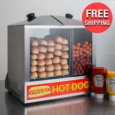 Commercial Steamer Cooker 200 Hotdog 48 Bun Large Storage Capacity Food Warmer