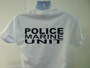 Police-Marine-Unit-Tee-T-Shirt-Your-Choice-Of-Shirt-Color-amp-Print-Colors