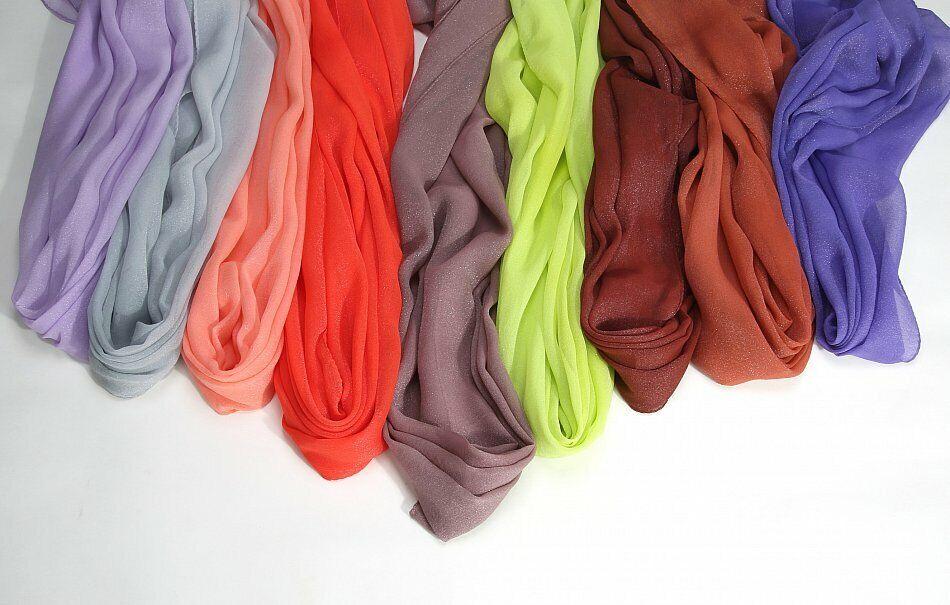 Adaptable Prettystern Longue Femmes En Soie-écharpe étole Argent-fil Opalescente Robe De Soirée Qualité Et Quantité AssuréE