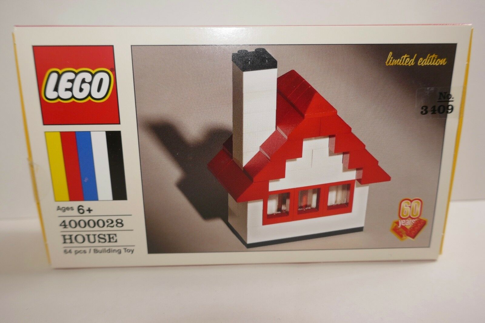Lego 60th Anniversary Limited Edition House  4000028 RARE NumbeROT Box NEW