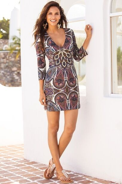 Boston Proper Paisley Scuba Dress by Alexia Admor Size S NWT   139