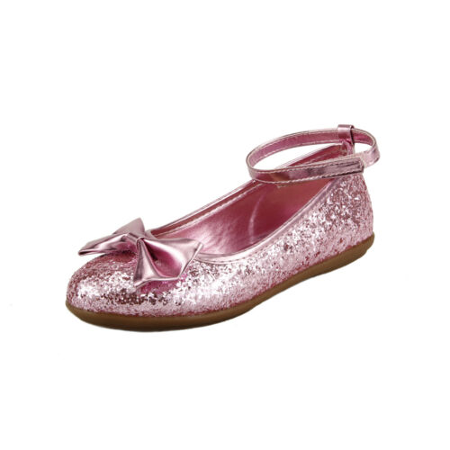 Girl/'s Sparkly Wedding Party Dress Shoes Ankle Wrap Toddler Little Kids Red Gold