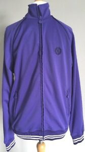 Official-Mens-Everton-Football-Club-Purple-Zip-Up-Jacket-size-Large