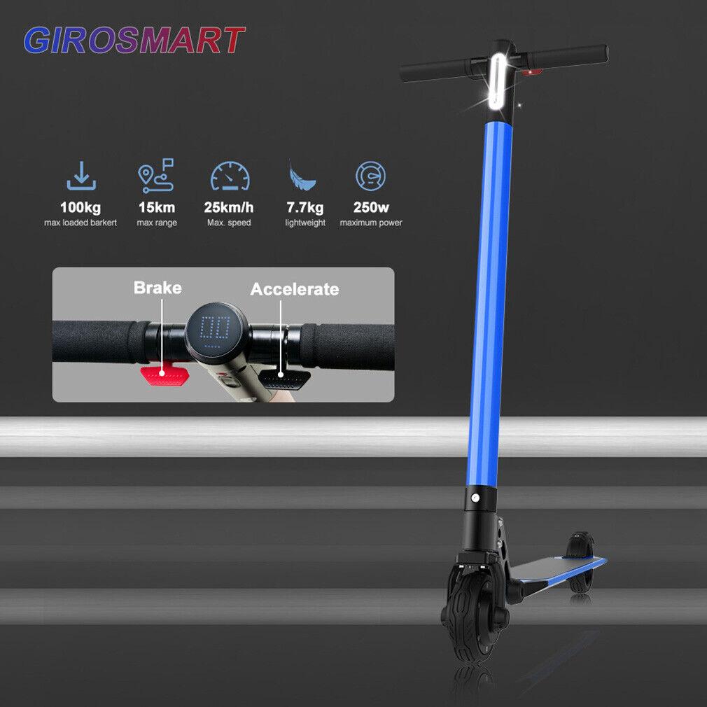 blu GiroSmart 6.5 25KMH Electric Scooter Foldable EScooter Commuter Bike