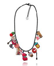 Collier chat gourmand ♥ rose bonbon ♥ souris ♥ fiole verre ♥ lol bijoux ♥ paris