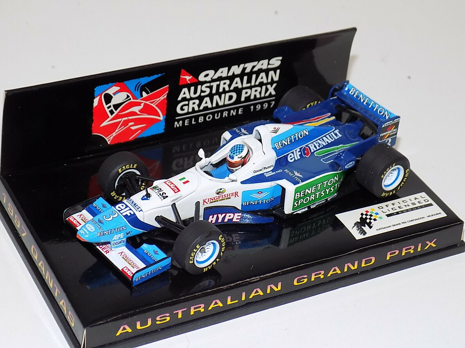 1 43 Minichamps Benetton B196 J. Alesi AUSTRALIAN edition 1997