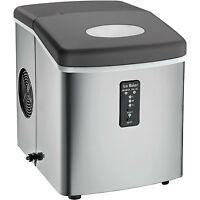 Igloo Ice103 Counter Top Ice Maker With Over-sized Ice Bucket, Stainless Steel on sale