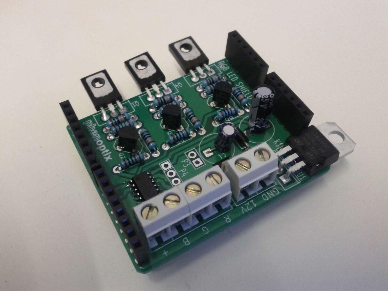Rgb Led Arduino Uno Shield Kit Ic Ws2801 Ebay 4x4x4 Cube Schematic Light Strip Lighting Wiring Diagram Wq