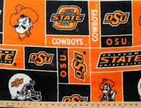 College Oklahoma State University Cowboys Print Fleece Fabric Sosu012s