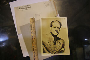 Entertainment Memorabilia Vintage 5x7 Nelson Eddy Signed Publicity Photo W Mgm Studios Envelope Jsh Autographs-original