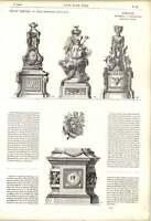 1863 Stove Bases Trophy Column Obelisk De La Fosse Artwork