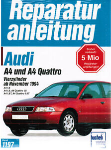 Libro-Manual-de-reparaciones-AUDI-A4-y-A4-1-6-1-8-T-QUATTRO-AB-11-94-BD