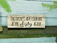 Farmhouse decor Rustic Wood Kitchen Sign WASH YOUR DAMN DISHES funny