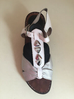 Flyflot Ladies Leather Wedge Mules Sandals Shoes UK Size 41 BNWOT