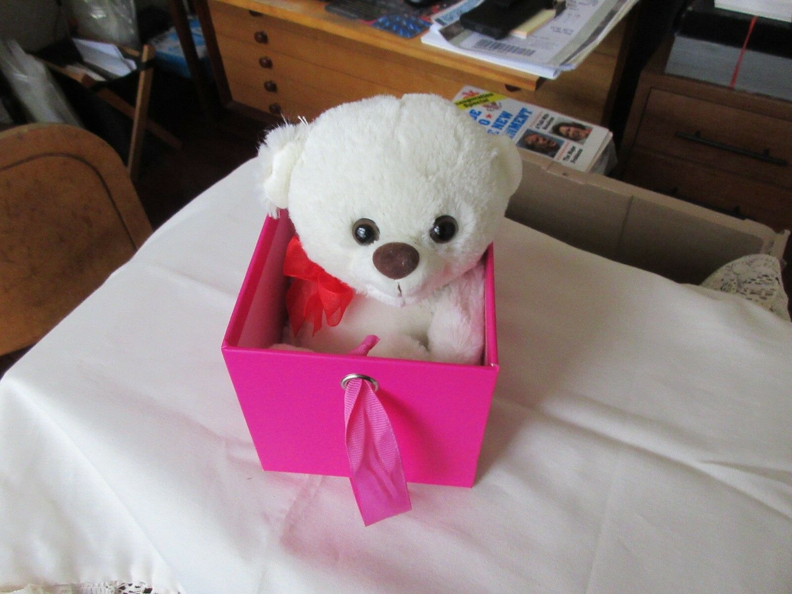 """Teddy Bear in a Box , """"Just For You """" , Megatoys"""