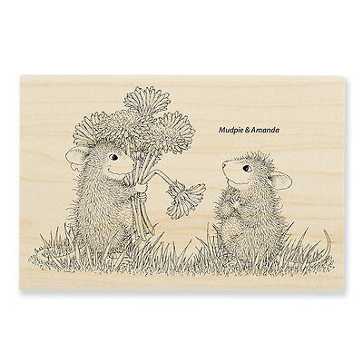 HOUSE MOUSE Flower Poppy Nap Wood Mounted Rubber Stamp STAMPENDOUS HMP73 New