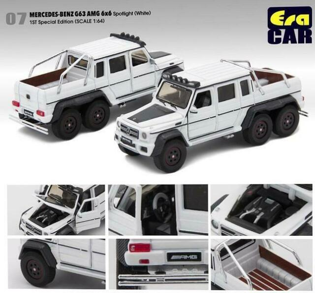 1//64 Scale Mercedes Benz G63 6X6 AMG Black Diecast Car model Collection Toy