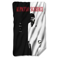 Scarface Movie Poster Licensed Fleece Throw Blanket 30 X 60 on sale