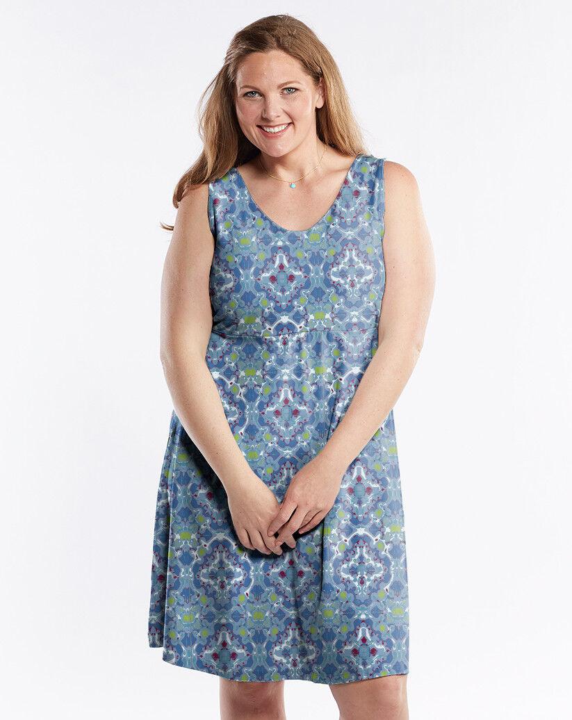 NWT FRESH PRODUCE   TILEPLAY  OLIVIA STYLE DRESS ON DEEP DIVE ..FLATTERING (2X)
