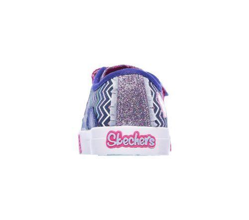 Up dita Skechers le Doodles dei 4 Light Shoe Infant Trainer piedi Polkadot Flashing Sparga HHYqwF