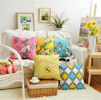 "Luxury Velvet Cushion Cover Decor Pillow Case Sofa Throw Vintage Floral 18"" 20"""