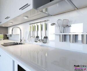 Image Is Loading White Plastic Perspex Acrylic Kitchen Bathroom Splashback Like