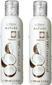Oriflame Nature Hair Oil with 100% Coconut Oil For Normal Hair SET OF 1 (100 ML)
