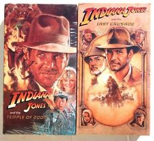 SEALED Lot of 2 INDIANA JONES VHS Last Crusade / Temple Of Doom - Free Shipping