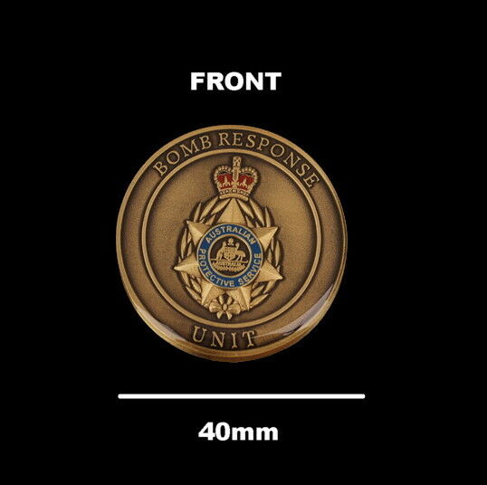 Australian Protective Service Bomb Response Unit Challenge Coin (social)