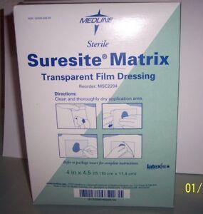 MEDLINE-STERILE-FILM-DRESSING-TRANSPARENT-4-034-X-4-5-034-2-bx-OF-50-MSC2204