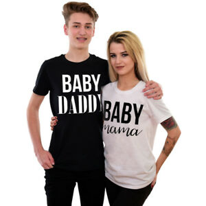 Pregnancy Announcement T-Shirts Baby Mama Baby Daddy Funny ...
