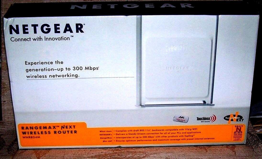 Netgear WNR834M RangeMax Next Wireless-N 4-port Router WNR834M-100NAS
