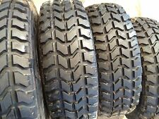 4 GOODYEAR WRANGLER MT 37X12.5R16.5 MILITARY H1 HUMMER HUMVEE TIRES 80% TREAD