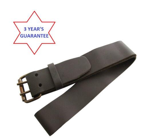 """Heavy Duty 2/"""" 50mm Wide 46/"""" Professional Leather Waist Work Belt 2 Pin Buckle"""