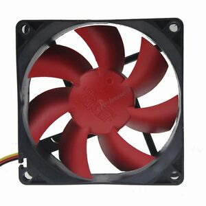2pcs-Quiet-Hydraulic-80mm-Red-Wing-12V-3Pin-DC-PC-Computer-Cooler-Cooling-Fan