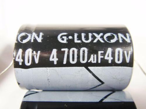 4700uF 40V 105°C ELKO axial LUXON Japan #14E94