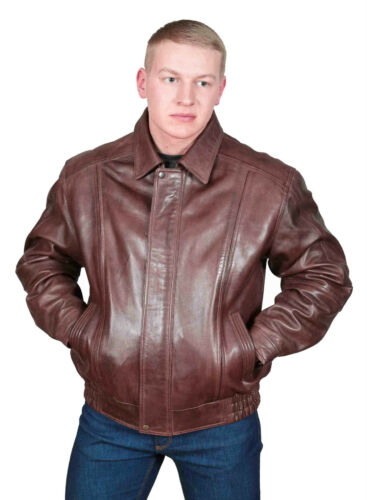 Top Casual Gentlemens Bomber Blouson Classic Jacket Leather Genuine Seller Coat wYwR8T