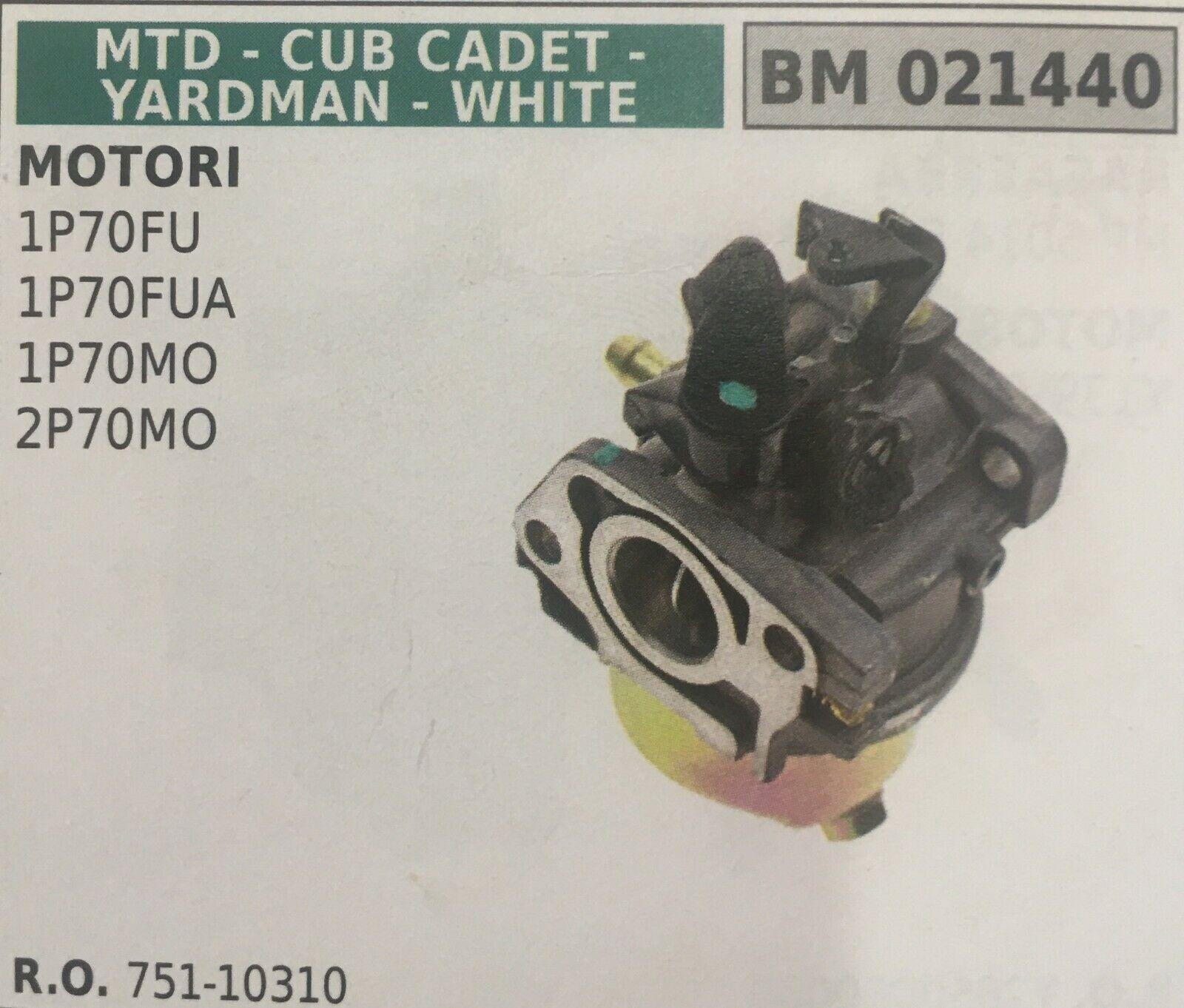 CARBURATORE A VASCHETTA BRUMAR MTD-CUB CADET-YARDMAN-Weiß BM021440