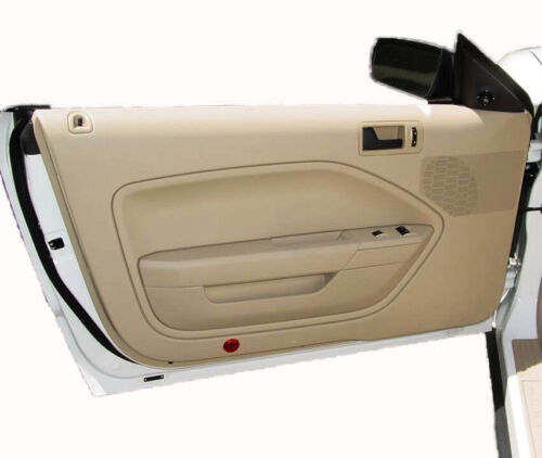 Synthetic Leather BEIGE Door Panel Insert Card Covers Fits 05-09 Ford Mustang