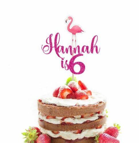 Personalised Flamingo Cake Topper Birthday Cake Topper Flamingo Cake Topper